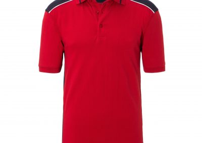 Kurzarm Poloshirt rot schwarz