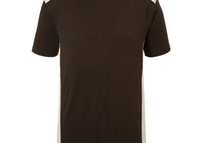 Kurzarm Shirt schwarz beige