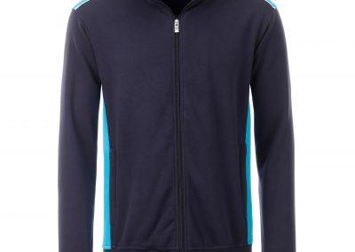 Langarm Jacke schwarz blau