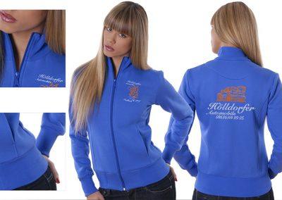 Sweat Jacke für Damen in royalblau