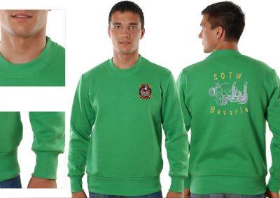 Sweatshirt in Kellygrün für Herren