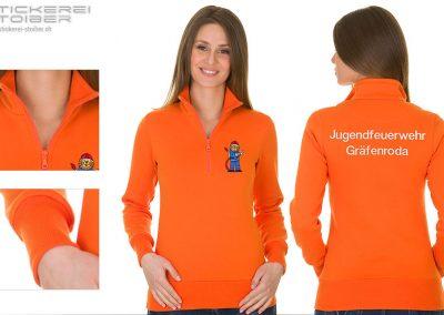 Sweatshirt mit Halb-Zip für Damen